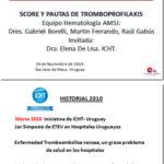 1ra Jornada Taller de Tromboprofilaxis