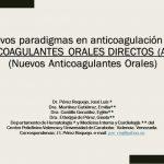 Libro sobre: Nuevos Paradigmas en anticoagulación oral