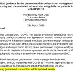 Covid 19 – Recomendaciones ISHT 2020 – Tromboprofilaxis Compromiso de todo el equipi de salud