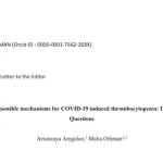 Trombocitopenia y COVID 19 ISHT