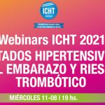 Webinars ICHT – Miércoles 11 de Agosto 2021